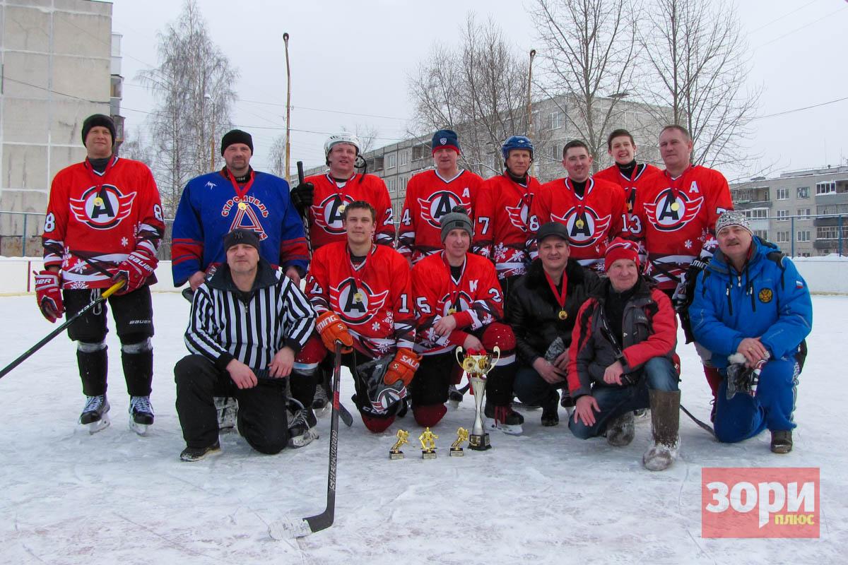 В Добрянском округе награждена лучшая хоккейная команда