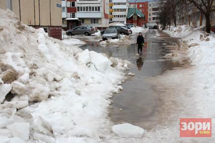 Добрянские улицы уходят под воду