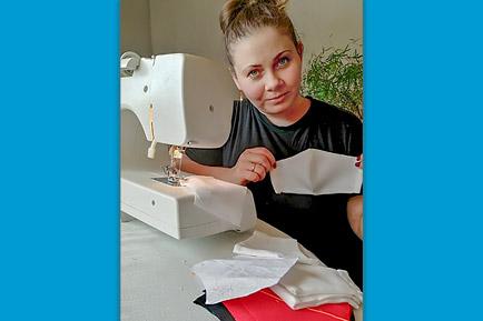 Добрянские волонтёры шьют маски, чтобы раздавать бесплатно