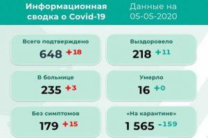 В Прикамье 18 новых случаев коронавируса