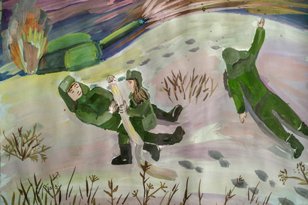Дети рисуют войну