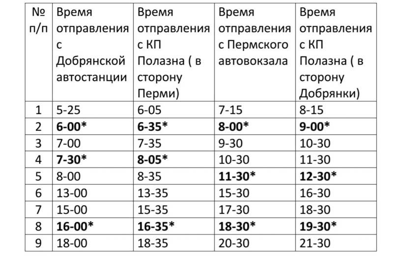 Автобус № 530 скорректировал расписание