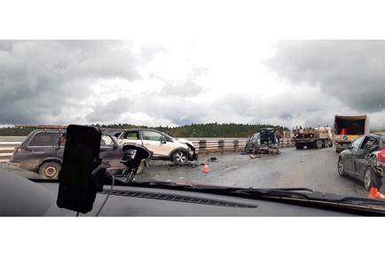 Массовая автоавария в Добрянском округе