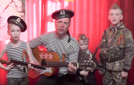 Поёт отряд Косачёвых
