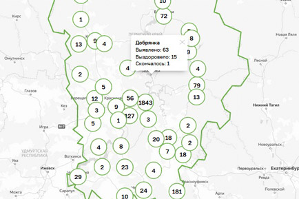 Ещё 7 инфицированных в Добрянском округе
