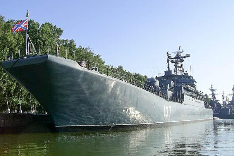Большой десантный корабль «Минск» у причала в Балтийске.