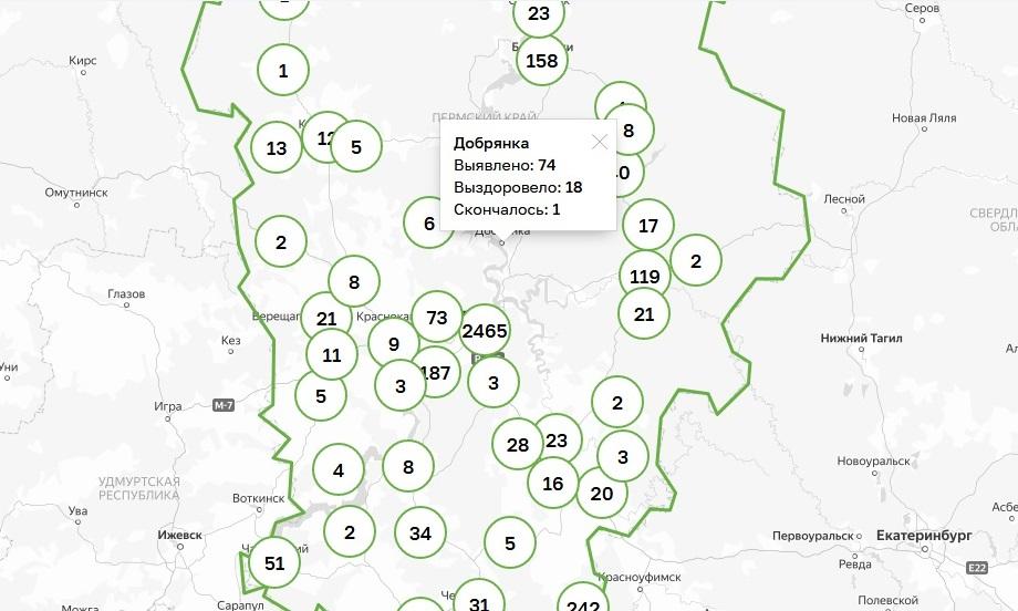 В Добрянском округе добавилось пять заболевших