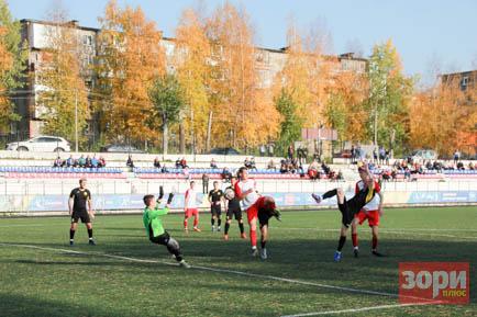 Академичная победа добрянских футболистов