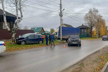 В Добрянке произошла автоавария