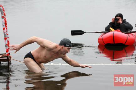 В Добрянке соревновались моржи